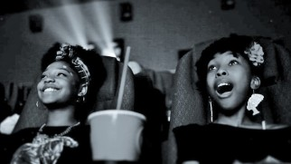 Ron Clark Academy 6th graders Destiny Cox and Allana Walker watch the film